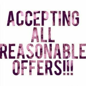 Reasonable offers being accepted now